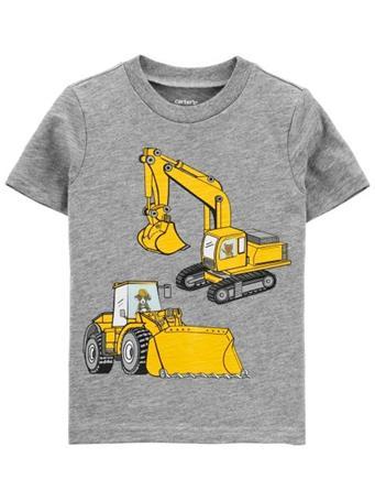 CARTER'S - Construction Action Graphic Slub Jersey Tee NOVELTY