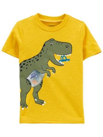 CARTER'S - Dinosaur Action Graphic Slub Jersey Tee NOVELTY