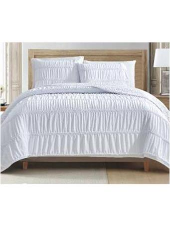 ANASTASIA BEDDING - Ruffle Quilt Set WHITE