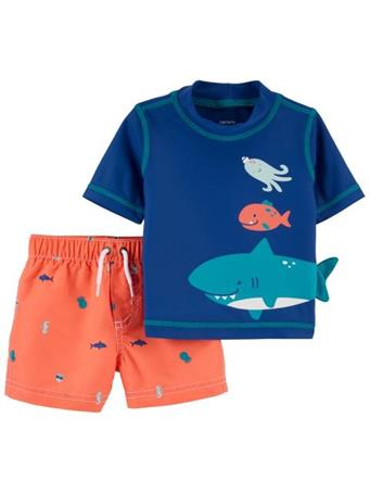 CARTER'S - Carters Shark Rashguard Set NOVELTY