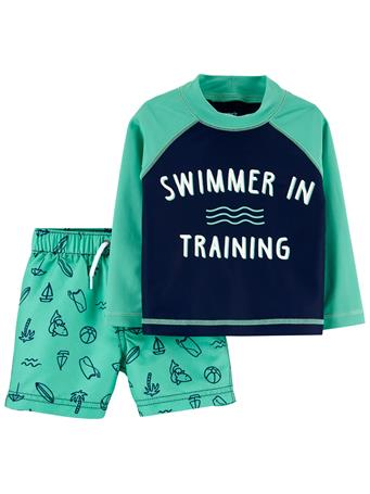 CARTER'S - Carter's Swimmer Rashguard Set GREEN