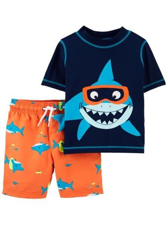 CARTER'S - Shark 2-Piece Rashguard Set NOVELTY