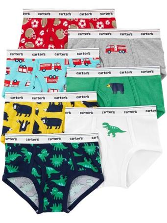 CARTER'S - 7-Pack Cotton Briefs NOVELTY
