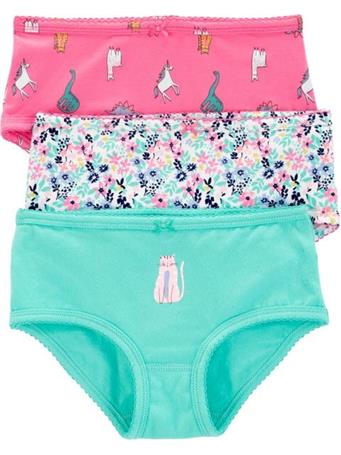 CARTER'S - Girls Underwear 3Pk Multi Dinos NOVELTY