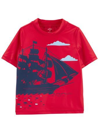 CARTER'S - Carter's Pirate Ship Rashguard NOVELTY