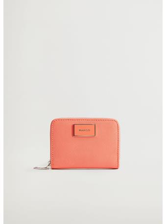 MANGO - Saffiano-effect Wallet RED