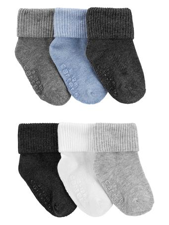 CARTER'S - 6-Pack Foldover Cuff Booties NOVELTY