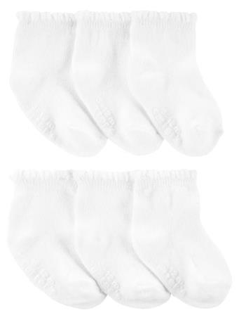 CARTER'S - 6-Pack Ankle Socks WHITE