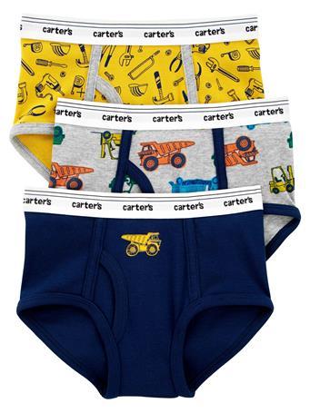 CARTER'S - 3-Pack Cotton Briefs NOVELTY