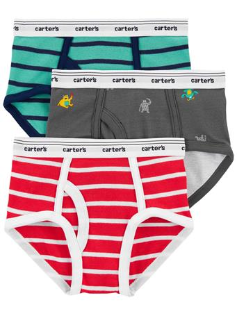 CARTER'S - 3-Pack Cotton Briefs NOVELTY