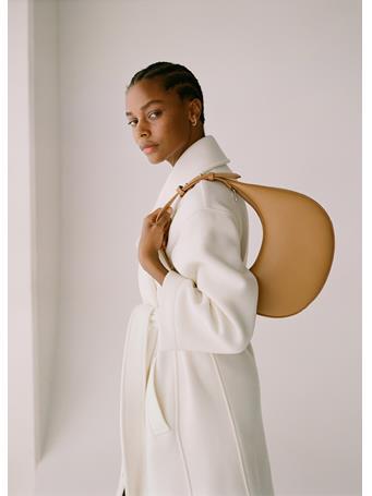 MANGO - Oval Short Handle Bag MED BROWN