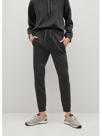 MANGO - Knit Jogger-style Trousers DARK GREY