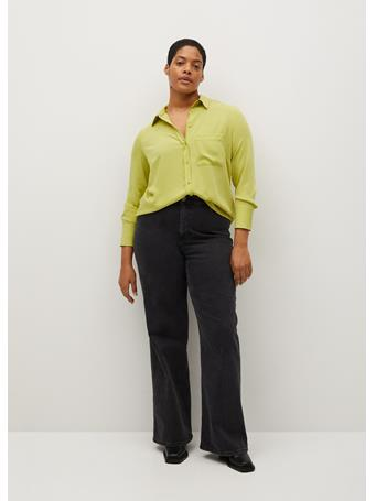 Violeta by MANGO - Patch Pocketed Shirt BRIGHT YELLOW