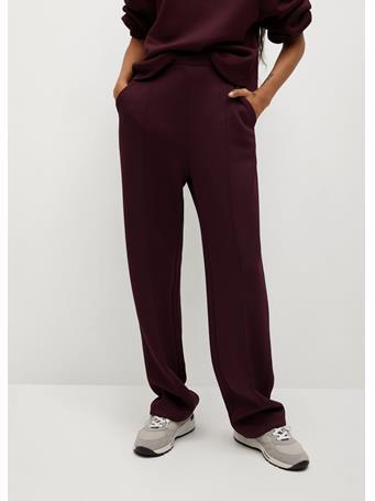 MANGO - Pleat Straight Trousers MARINO