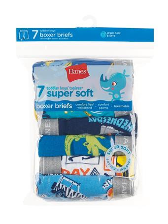 HANES - Toddler Boy Boxer Briefs 7 Pack NOVELTY