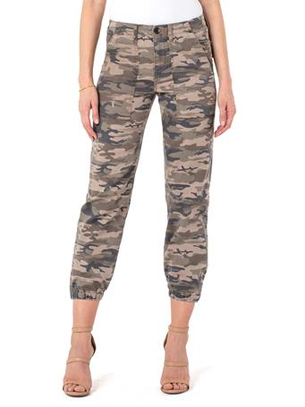 LIVERPOOL JEANS - Crop Cargo Jogger MOSS CAMO