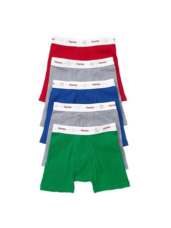 HANES - Toddler Boxer Brief 5 Pack  No Color