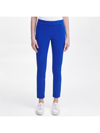 CALVIN KLEIN - Pull On Stretch Cotton Pants KEA