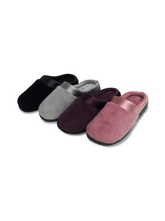 ROXONI - Satin Trim Slippers BLACK