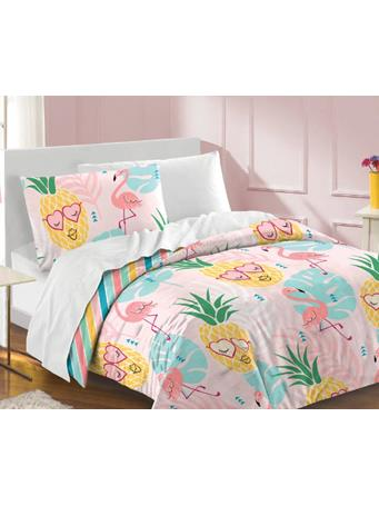 DREAM FACTORY - Pineapple Complete Bed-in-a-Bag PINK