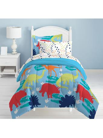 DREAM FACTORY - Dinosaurs Complete Bed-in-a-Bag BLUE