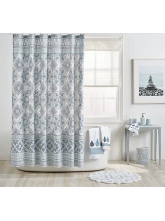 PERI HOME CAPRI - Capris Medallion Shower Curtain BLUE