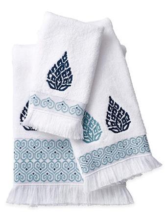 PERI HOME - Capris Medallion Towel Collection BLUE