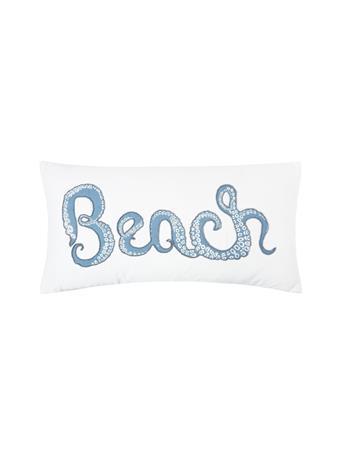 C&F - Octopus Beach Beaded Decorative Cushion BLUE