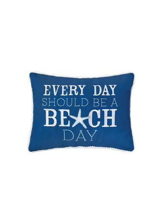 C&F - Every Day Should Be A Beach Day Decorative Cushion NAVY