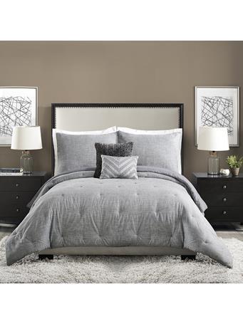 AYESHA CURRY™ - Strie Texture 5-Piece Comforter Set GREY