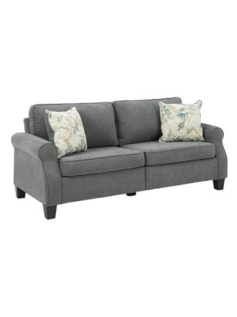 ASHLEY FURNITURE - Alessia Sofa with 2 Decorative Cushions CHARCOAL