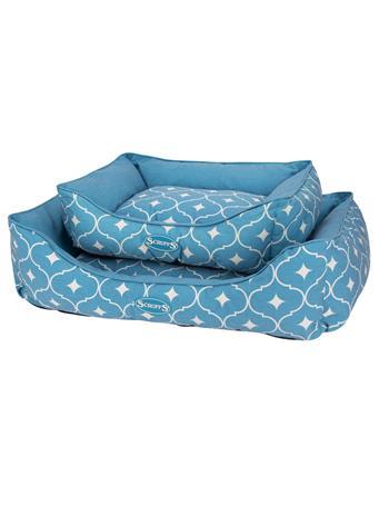 SCRUFFS - Casablanca Box Dog Bed BLUE