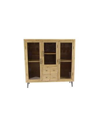 UMA INC. - Wood Cabinet with Glass Doors WOOD