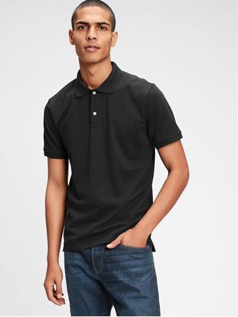 GAP - All Day Pique Polo Shirt TRUE BLACK V2