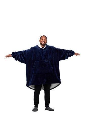 HUGGIN' HOODIE - Adult Wearable Hoodie Blanket GREY