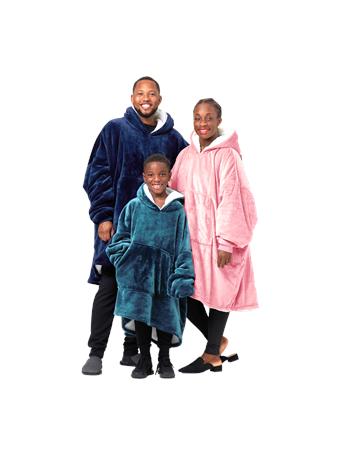HUGGIN' HOODIE - Kids Wearable Hoodie Blanket GREY