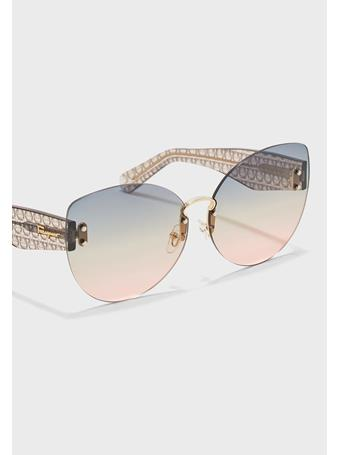 SALVATORE FERRAGAMO - Cat Eye Ombre Sunglasses GOLD