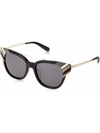 SALVATORE FERRAGAMO - Cat Eye Color Block Sunglasses BLACK