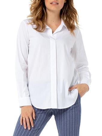 LIVERPOOL - Hidden Placket Shirt WHITE
