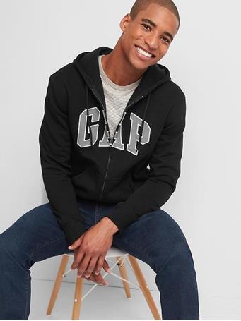 GAP - Gap Arch Logo Hoodie TRUE BLACK