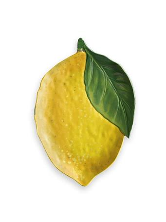 TARHONG - Lemon Fresh Figural Platter YELLOW