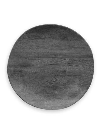 TARHONG - Vegan Wood Dinner Plate BLACKENED WOOD