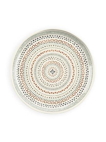 TARHONG - Desert Mandala Dinner Plate GREY/COPPER PRINT