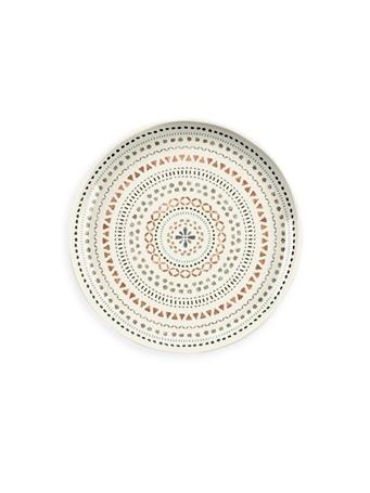 TARHONG - Desert Mandala Salad Plate GREY/COPPER PRINT