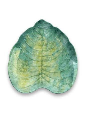 TARHONG - Tropical Leaf Tidbit Bowl GREEN