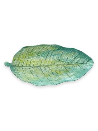 TARHONG - Tropical Leaf Platter GREEN