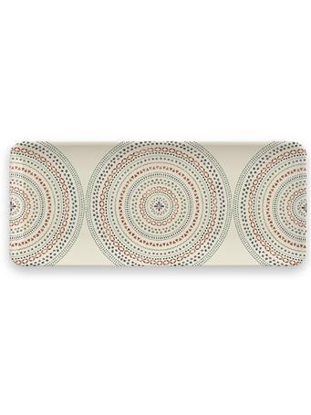 TARHONG - Desert Mandala Tray GREY/COPPER PRINT