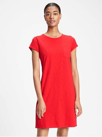 GAP - Pocket T-Shirt Dress PURE RED V2