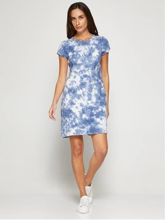 GAP - Pocket T-Shirt Dress BLUE TIE DYE