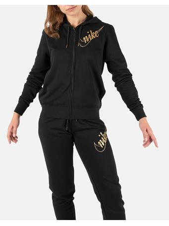 NIKE - Long Sleeve Fleece Hoodie BLACK